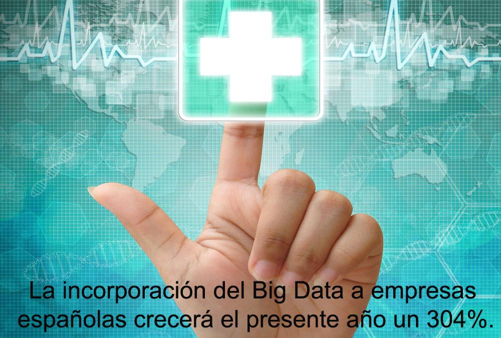 La incorporación del Big Data a empresas españolas crecerá el presente año un 304%