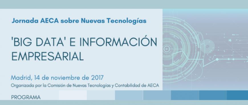 """""""BIG DATA"""" E INFORMACIÓN EMPRESARIAL: PRESENTACIÓN EL 14 DE NOVIEMBRE"""
